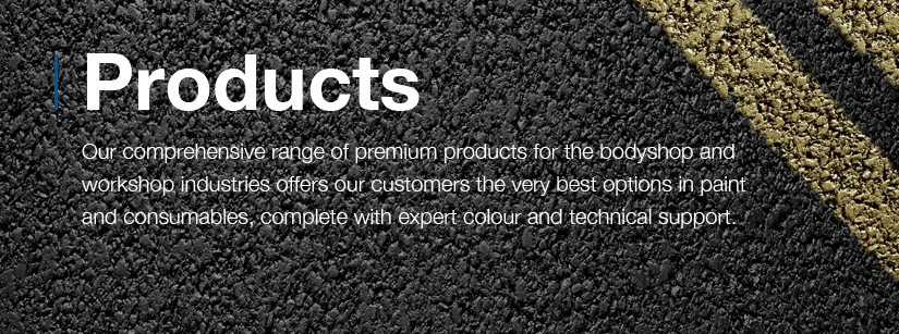 Comprehensive range of premium products for the bodyshop and workshop industries.